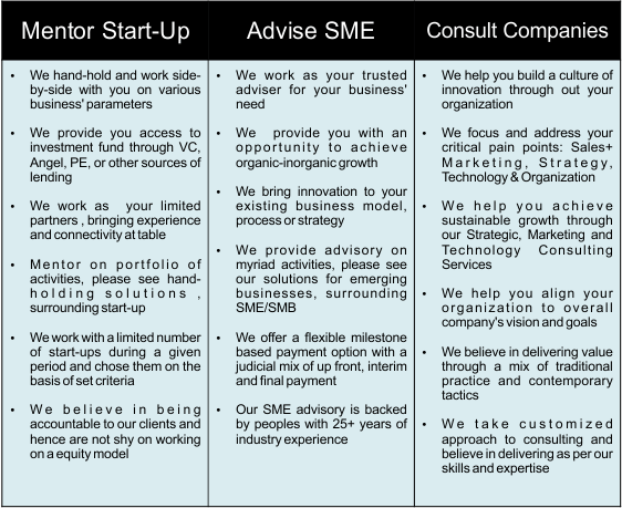 mentor startup, management consulting, advise business, small business